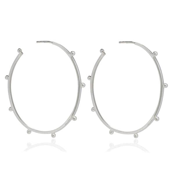 Large Punk Hoops Silver