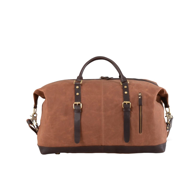 637e5b0d132c Eazo Zip Detail Waxed Canvas Holdall Bag in Maroon