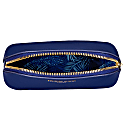 Navy Vegan Leather Oyster Cosmetic Case image