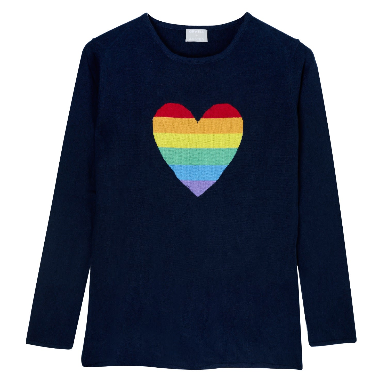 Rainbow Heart Sweater in Navy image af82d48c9