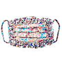 Ditsy Floral Print Cotton Pleated Face Mask With Ruffle Detail image