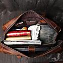 Genuine Leather Weekend Bag In Worn Look Finish image