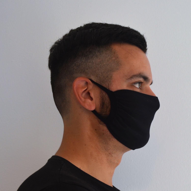 Pack Of 2 Face Masks Original All Black The Cool Face Mask Wolf Badger