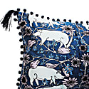 The Country Pig Blue Rectangle Cushion image