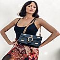 Shiloh Leather Ingrained Shoulder Bag - Jet Black image