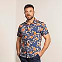 Scott Oriental Hibiscus Navy image