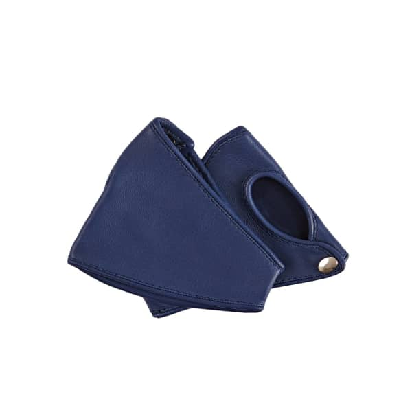GIZELLE RENEE A Leila Fashion Glove Accessory In Navy Blue