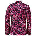 Joshua African Print Blazer 2 Button-Pink Botanical Print image