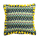 Bedawi Chartreuse Cotton Cushion image