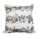Panoramic Harrogate Toile Print Cushion image