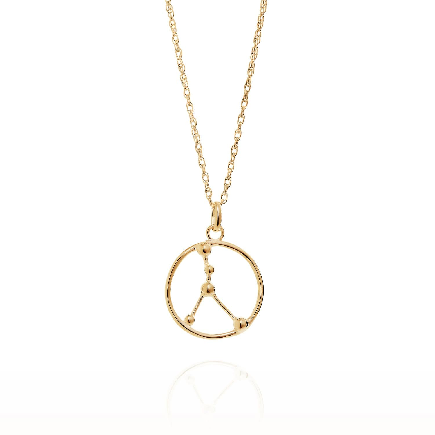 Cancer Astrology Necklace In 9ct Gold Yasmin Everley Jewellery