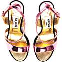 Metallic Effect Timeless Classic Sandals Pink image