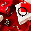Skull Leather Bracelet - Black & Silver image