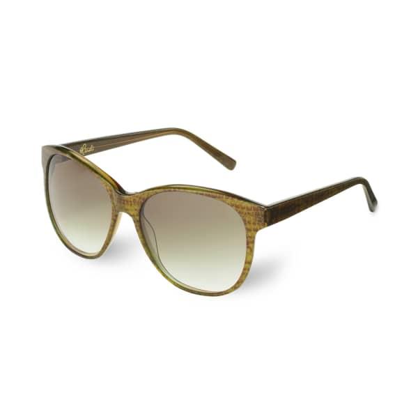 HEIDI LONDON Round Cateye Frame Sunglasses Khaki