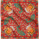 Royal Elephant & Paisley Silk Scarf Collection image