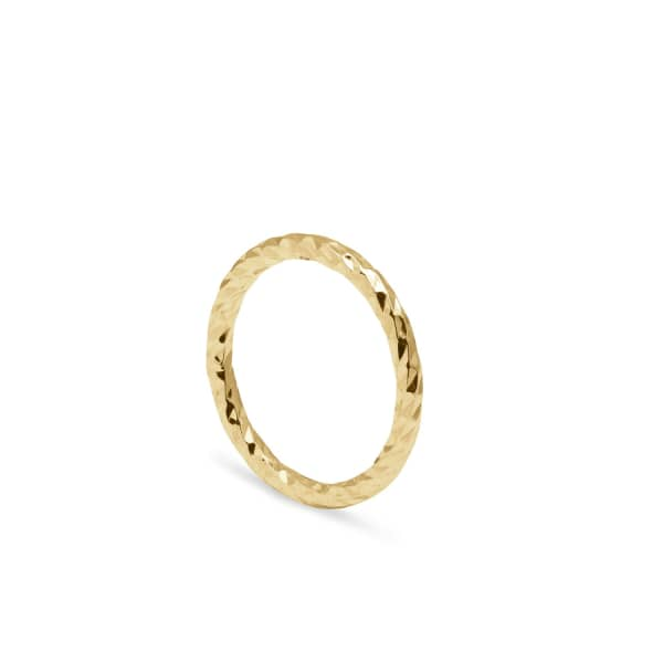 MYIA BONNER Gold Faceted Diamond Band