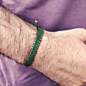 Green Waxed Cord & Solid Copper Handmade Bracelet - Copper Connection image