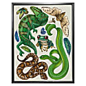 Antique Reptiles & Amphibians - Cream Fine Art Print A3 image