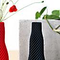 Spiral One Vase Black image