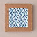Set Of Four Herringbone Coasters - Blue image