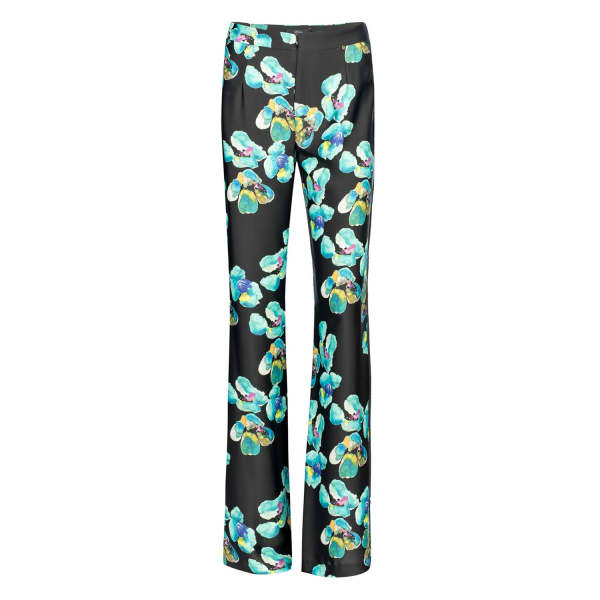 NISSA Straight Trousers with Floral Print