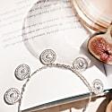 Kalbelia Coin Charm Bracelet Silver image