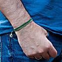 Vegan Green Rope Bracelet & Silver For Men image