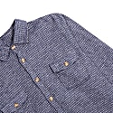 Houndstooth Over Shirt - Navy image