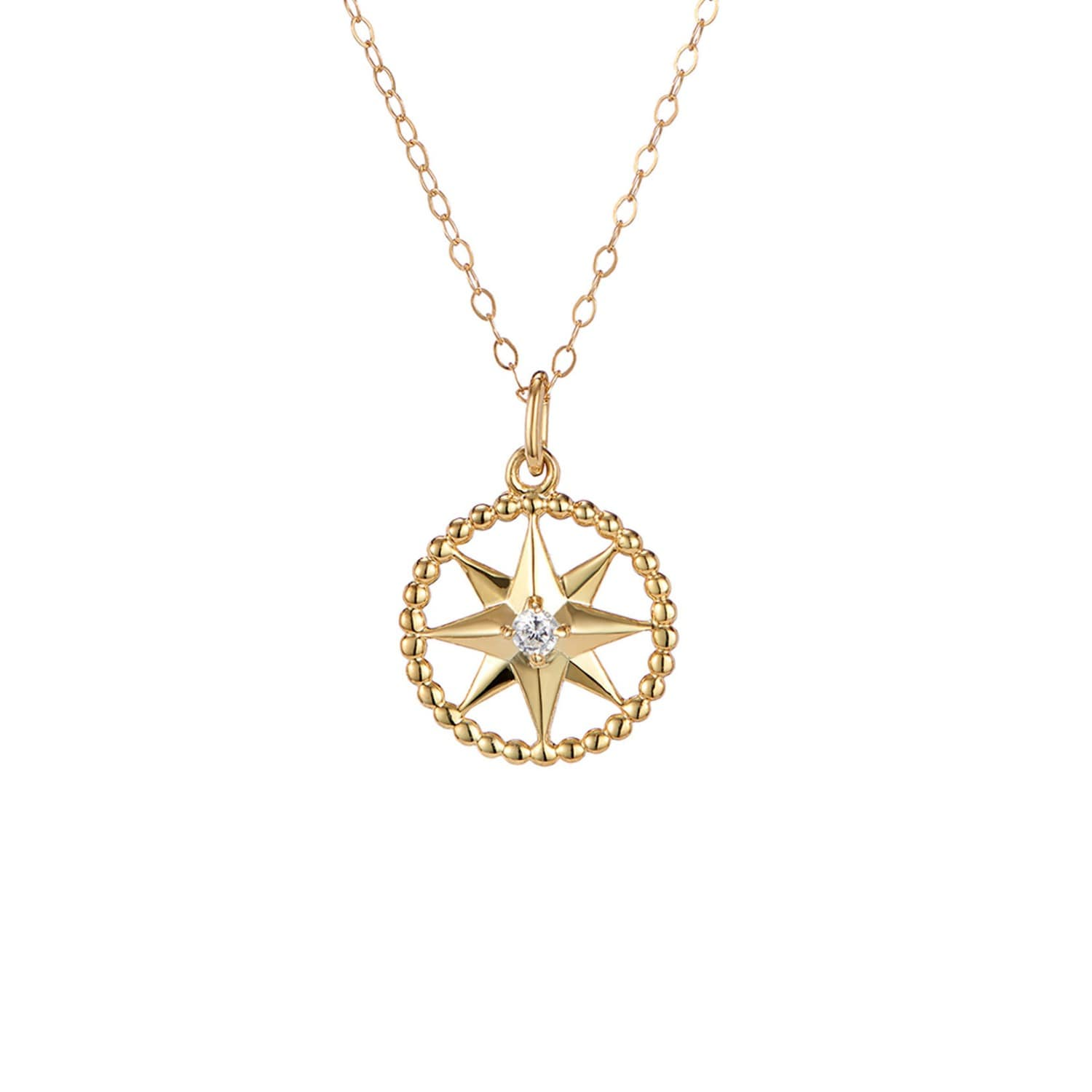 4289f6908c836 Crystal Star Charm Pendant In Gold On 14 Inch Choker Length Chain ...