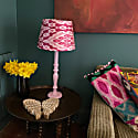 Light Pink Hand Painted Wooden Lamp Base image