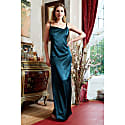 Rosie Emerald Twisted Straps Maxi Slip Dress With Side Slit image