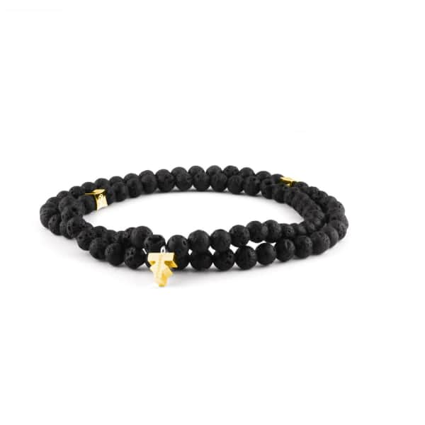 TISSUVILLE Pulse Lava Necklace Men Gold