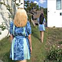 Livi Ruffle Puff Sleeve Dress - Tie Dye Print image