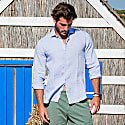 Fiji Linen Shirt In Blue image