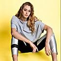 Hexagon Organic Cotton T-Shirt Grey image