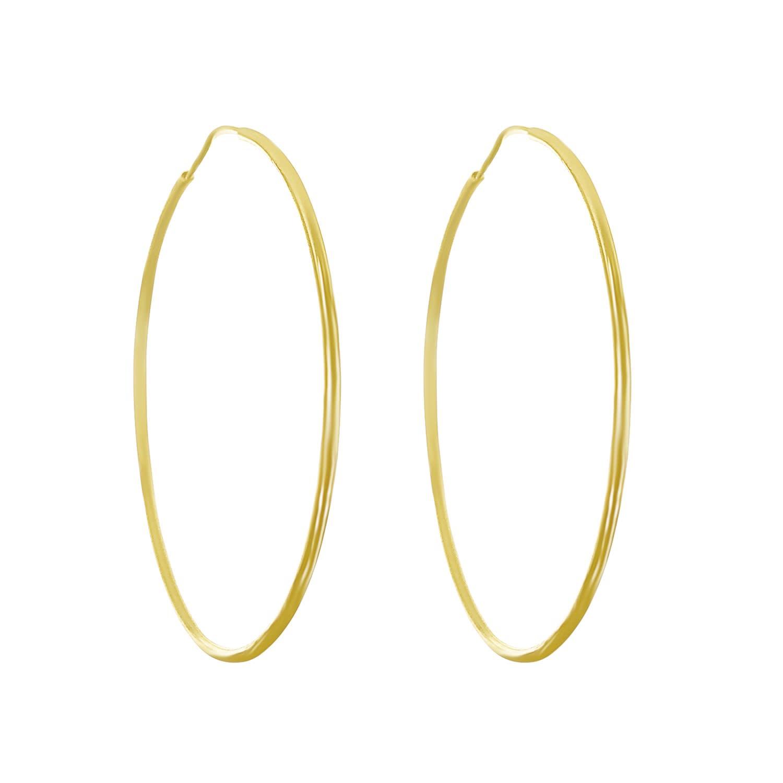 16a87106a Skinny Gold Hoop Earrings Large | Talia Naomi | Wolf & Badger