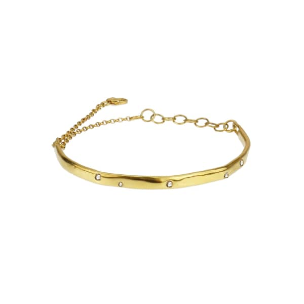 YVONNE HENDERSON JEWELLERY Scatter Bracelet  with Gold and White Sapphires