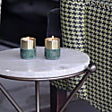Brass Candle Holders Green Marble image