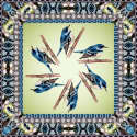 Blue Bird Wool Scarf image