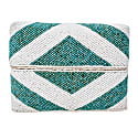 Zoe Beaded Clutch - Aqua White image