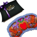 Lucky Lobster Silk Eye Mask with ruffle trim image