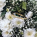 Aqua Chalcedony Bangle In Gold image