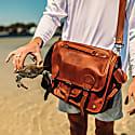 Large Leather Harvard Satchel Messenger Bag In Vintage Brown image