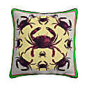 Crabs Silk Cushion With Purple Back image