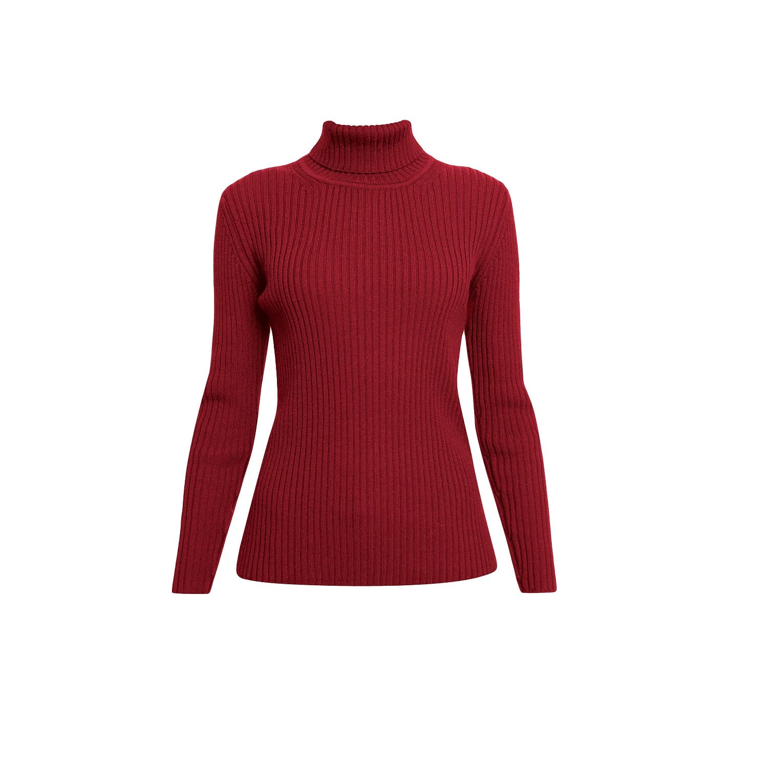 Red Jumper  MIA by Rumour London Red Ribbed Turtleneck Sweater