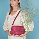 Laia - Fish Leather - Crossbody Bag - Bordeaux image
