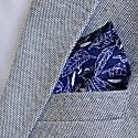 Signature Silk Pocket Square Navy image