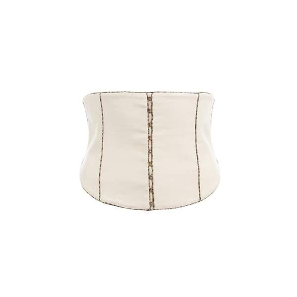 WtR Cream Bustier Corset Style Waist Belt