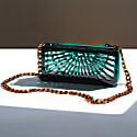 Phoebe Clutch In Emerald Green image