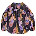 Greta Gloomy Flower Print Sheer Blouse image